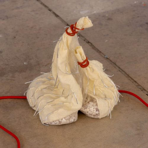 Art installation, two pouches