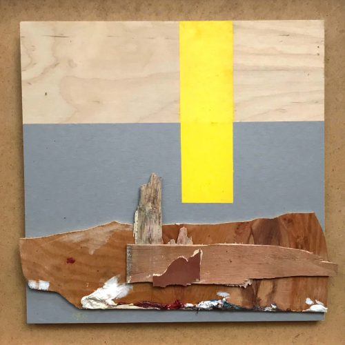 Abstract collage of wood
